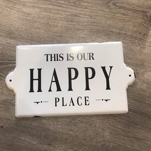 Happy place wall art home decor relax rustic boho